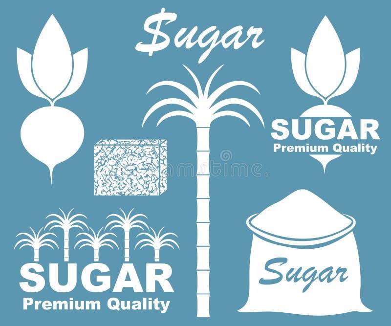 抽象糖 图标 皇族释放例证