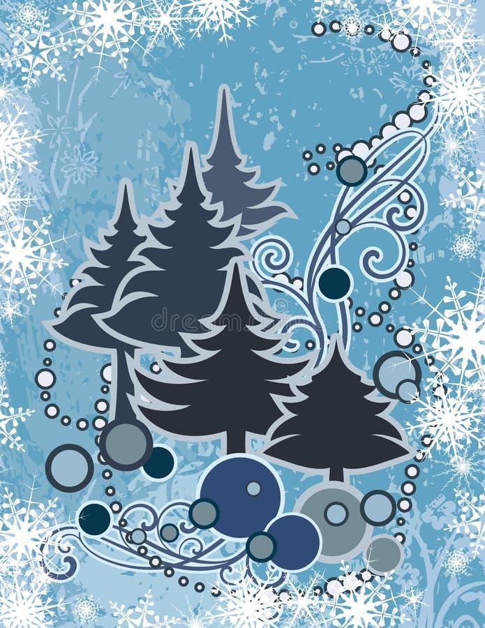 抽象系列冬天 向量例证
