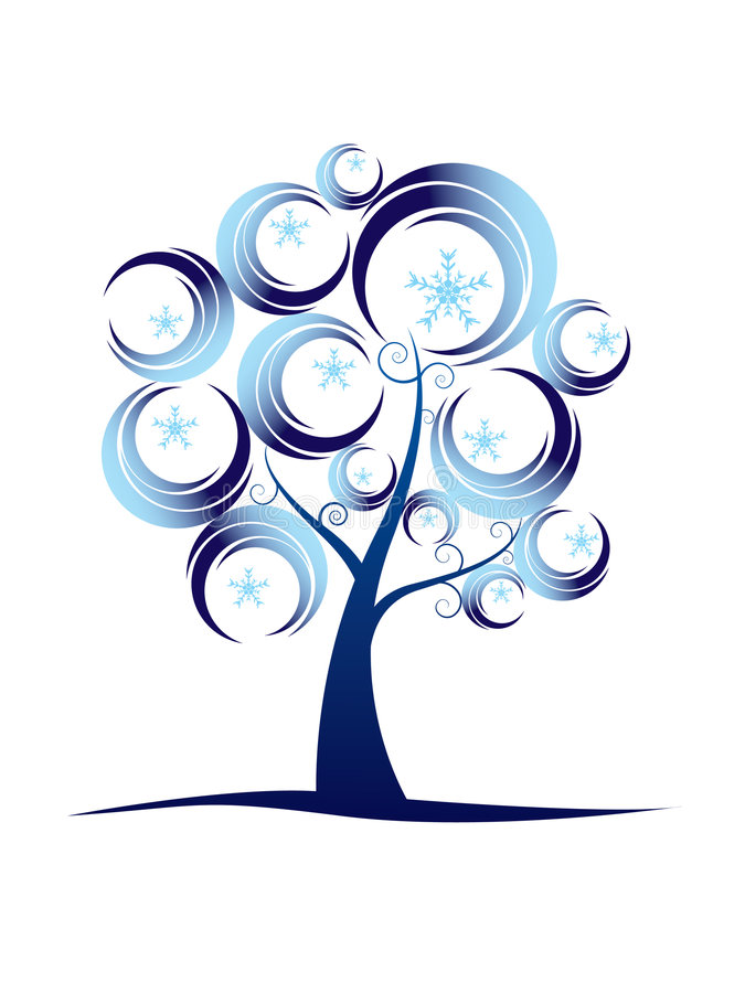 抽象系列结构树冬天 向量例证