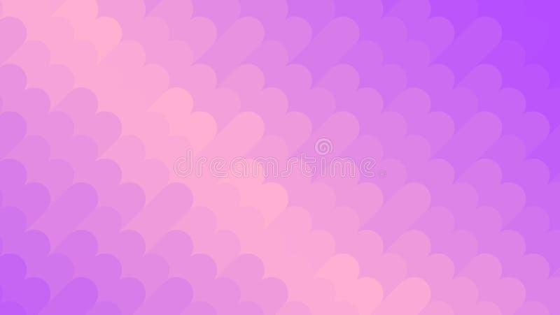 抽象紫罗兰和桃子霓虹背景 明亮的几何模式 马赛克 抽象传染媒介例证,水平 皇族释放例证