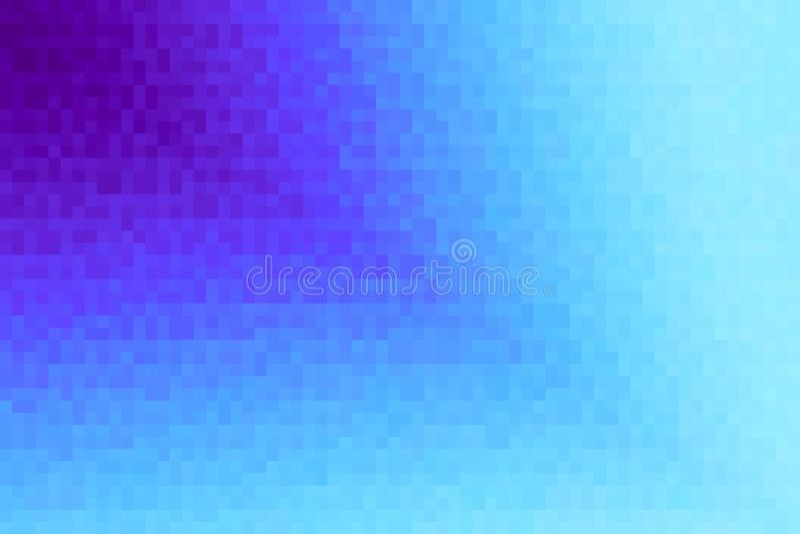 抽象紫罗兰和深蓝对角梯度背景 与映象点方形块的纹理 马赛克样式 向量例证