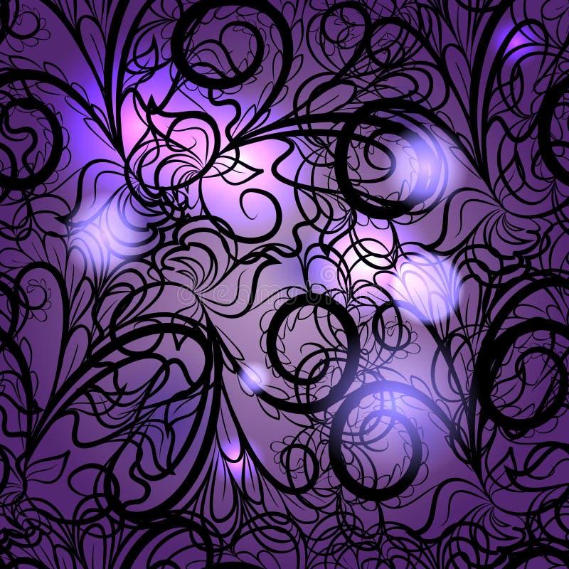 抽象紫罗兰色无缝 向量例证