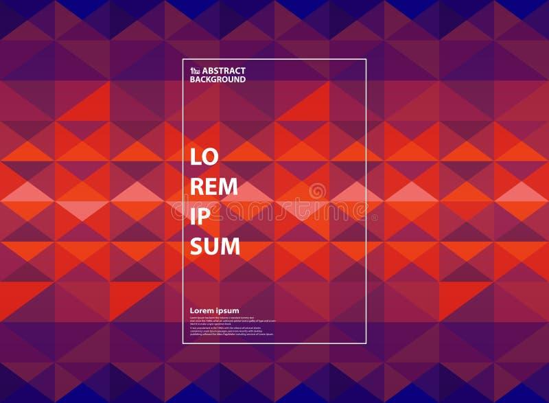 抽象紫色和橙色几何梯度背景 您能为颜色艺术品,屏幕现代设计,年终报告使用, 皇族释放例证