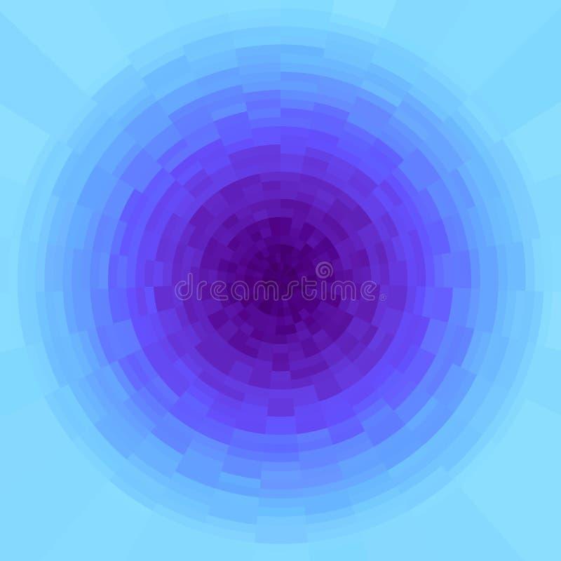 抽象紫色和深蓝辐形梯度背景 与圆映象点块的纹理 生动的圈子,马赛克样式 皇族释放例证