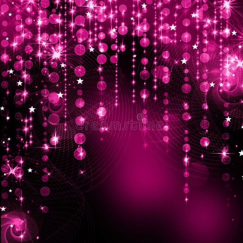 抽象紫色圣诞灯 库存例证