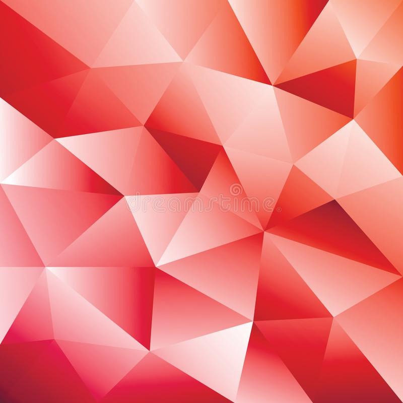 抽象红色三角几何背景 五颜六色的梯度样式,卡片 皇族释放例证