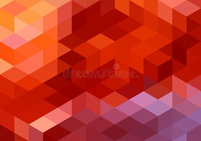 抽象红色几何背景,传染媒介 向量例证