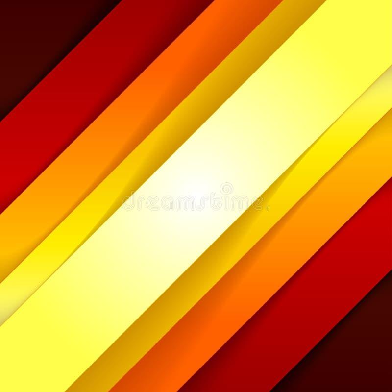 抽象红色和橙色三角塑造背景 库存例证