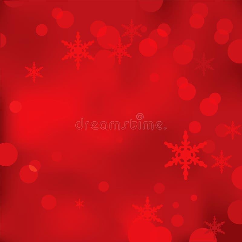 抽象红色圣诞节和新年传染媒介背景 免版税库存照片