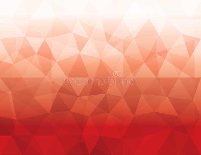 抽象红色多角形几何背景 库存例证