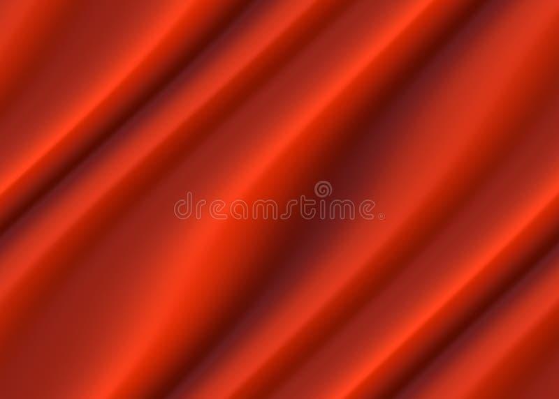 抽象红色布料豪华波浪背景或背景 皇族释放例证