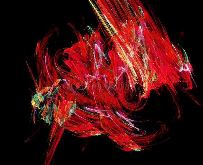 抽象红色形状 库存例证