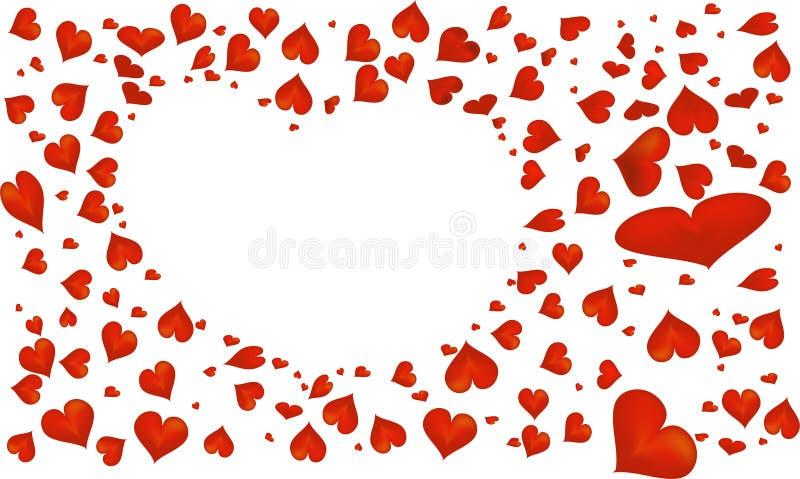 抽象红色心脏标志为华伦泰` s天 图库摄影