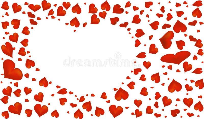 抽象红色心脏标志为华伦泰` s天 免版税库存图片