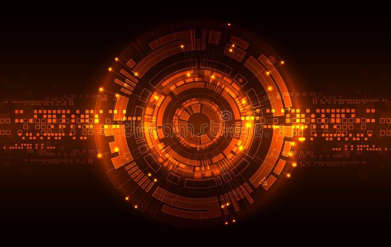 抽象红色数字捅信技术背景 向量 库存例证