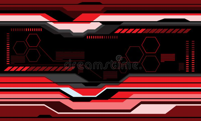 抽象红色未来派技术屏幕显示器设计现代背景传染媒介 向量例证
