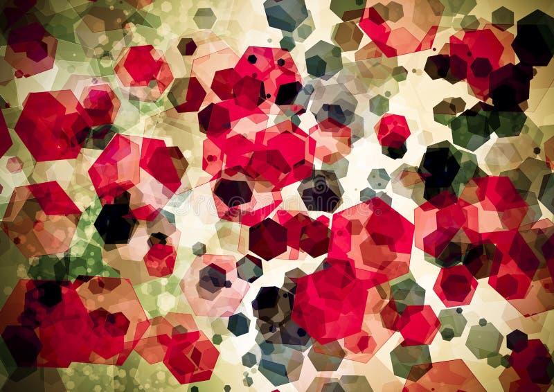 抽象红色桃红色绿色bokeh墙纸 免版税库存图片