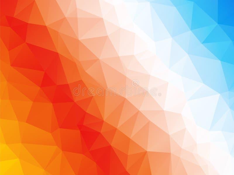 抽象红色橙色蓝色白色背景 皇族释放例证