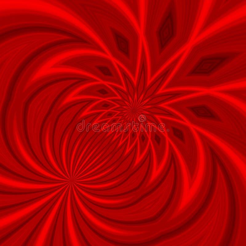 抽象红色漩涡 库存例证