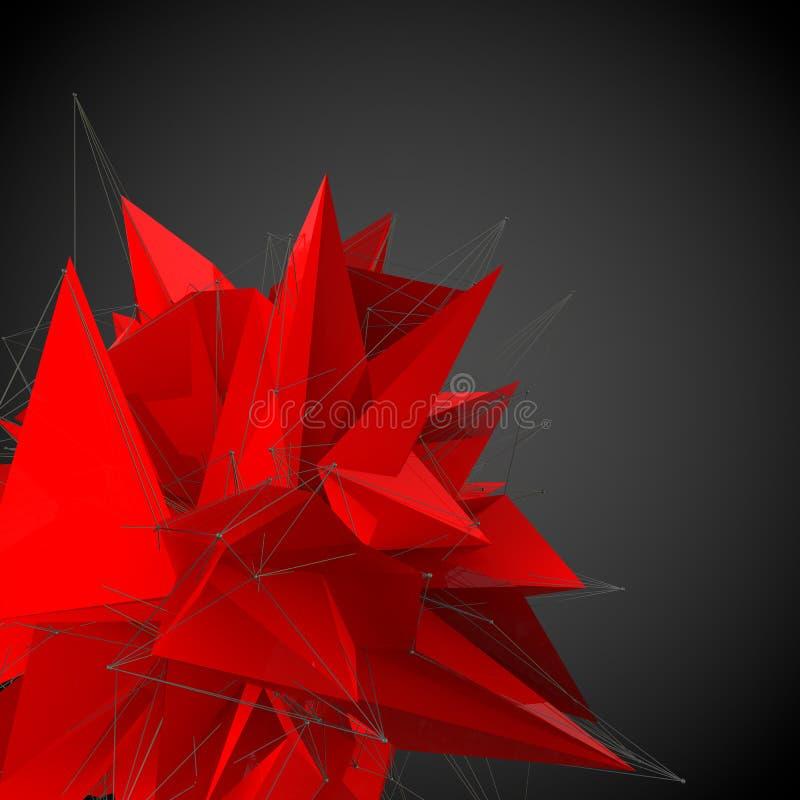 抽象红色现代形状 皇族释放例证