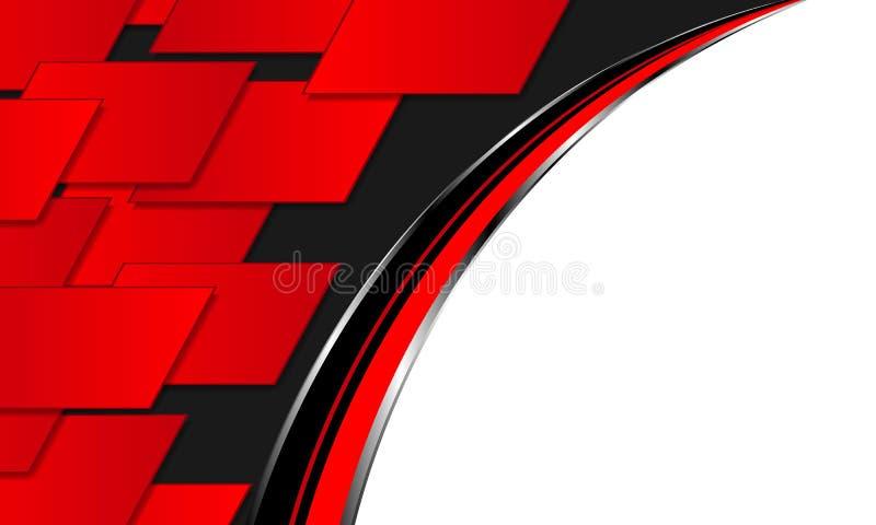 抽象红色背景技术 向量例证