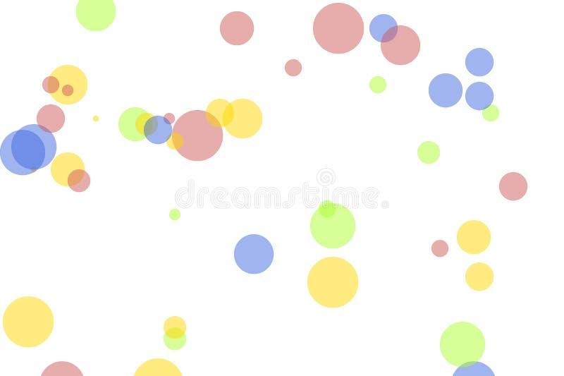 抽象红色蓝色黄绿色盘旋例证背景 向量例证
