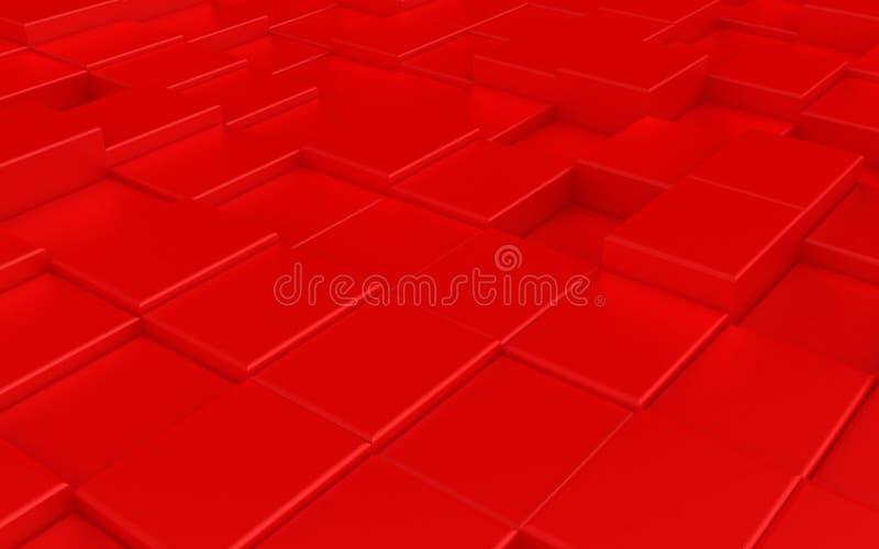 抽象红色都市背景 库存例证