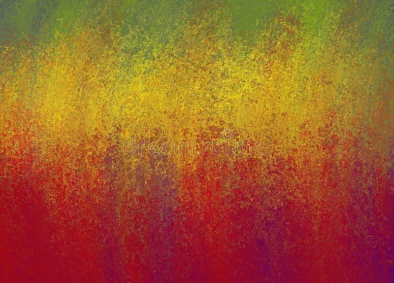 抽象红色金子和绿色背景与发光的难看的东西纹理 免版税库存图片