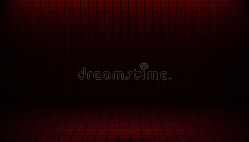抽象红色陈列室项目产品的墙纸砖格子花呢披肩背景自由空间 r 皇族释放例证