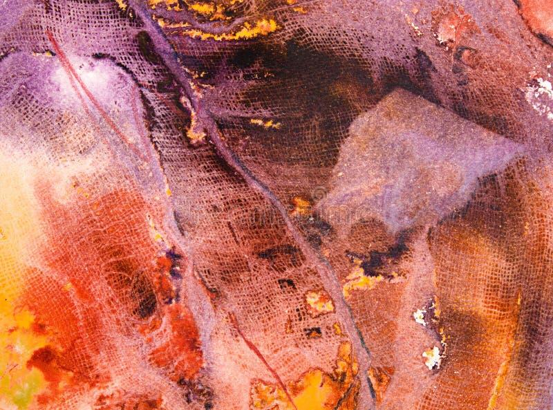 抽象纱绘画纹理 免版税图库摄影