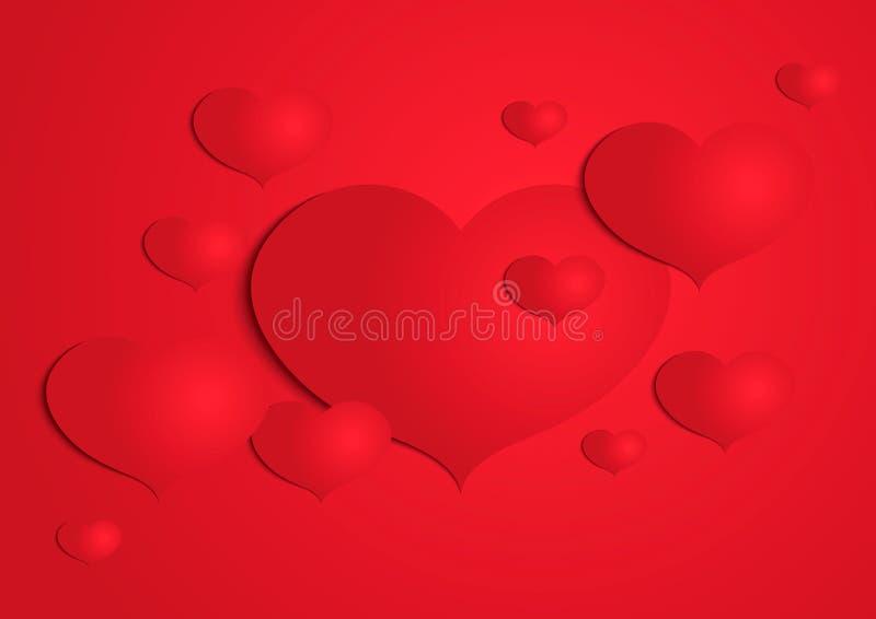 抽象纸心脏背景 皇族释放例证