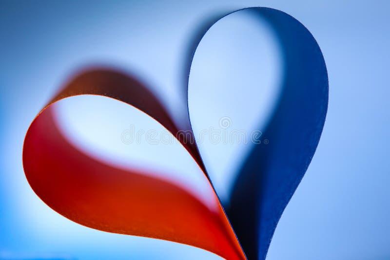 抽象纸心脏 图库摄影