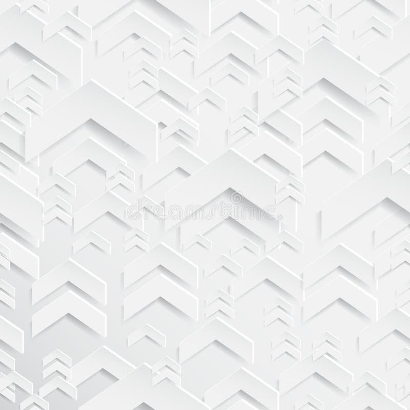 抽象纸箭头无缝的样式背景 向量例证