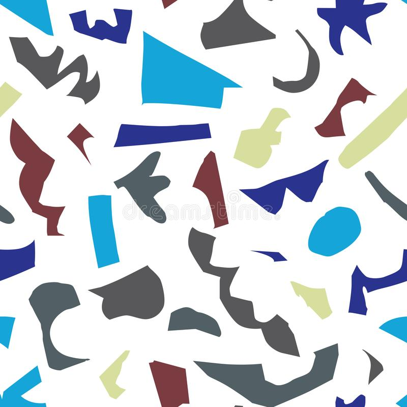 抽象纸裁减塑造无缝的样式 皇族释放例证