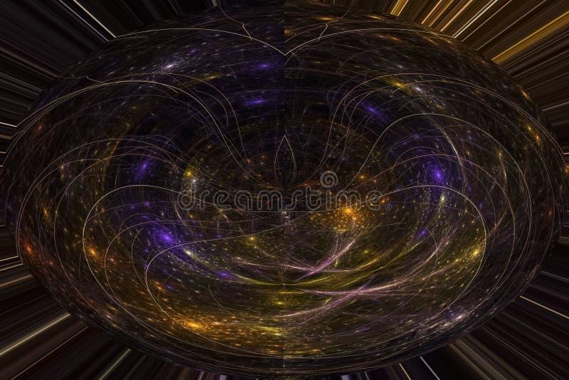抽象纹理分数维超现实的作用样式波形不可思议的fl ame爆炸幻想设计背景曲线 库存例证