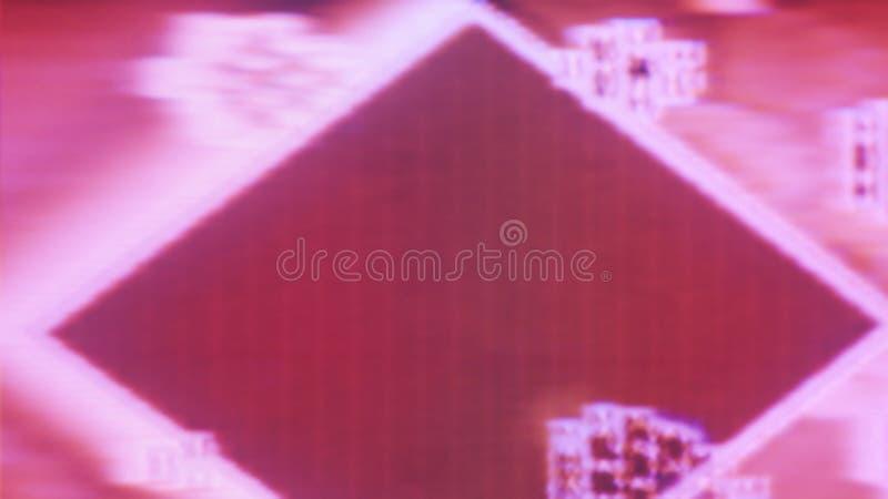 抽象纹理背景噪声小故障电视错误 免版税库存图片