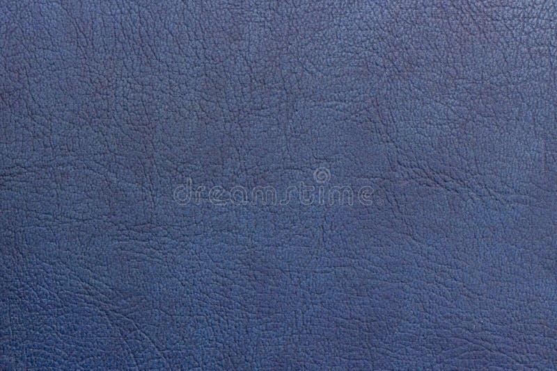 抽象纹理背景拷贝空间皮革被绘的蓝色 免版税库存图片