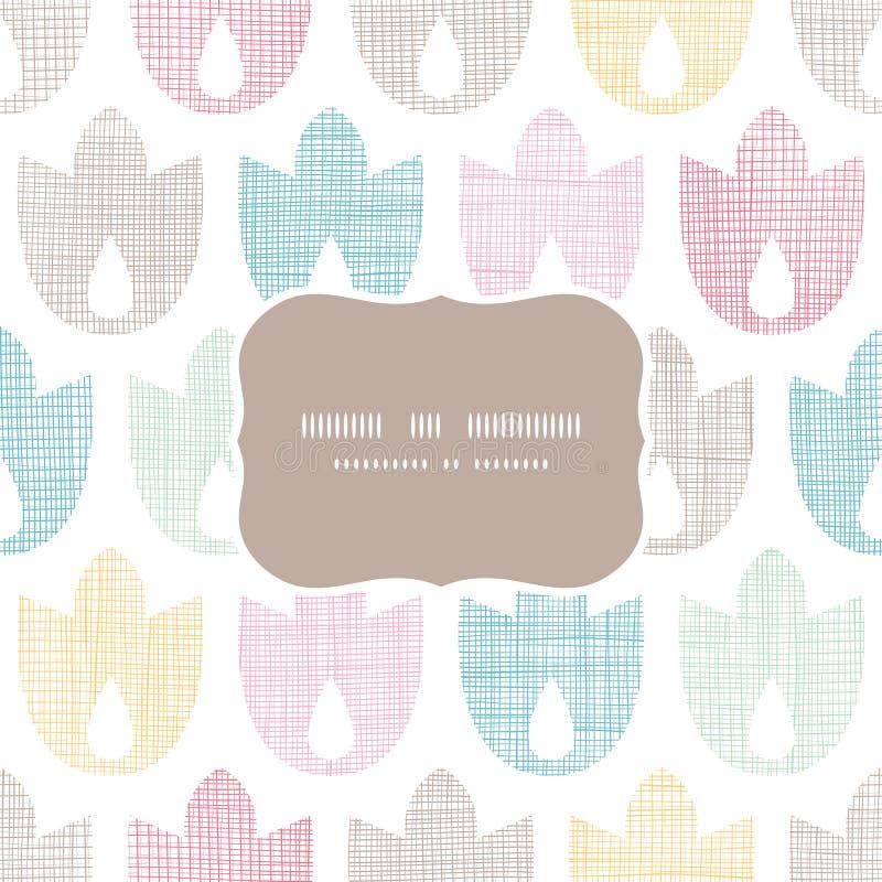 抽象纺织品几何郁金香五颜六色的框架 库存例证