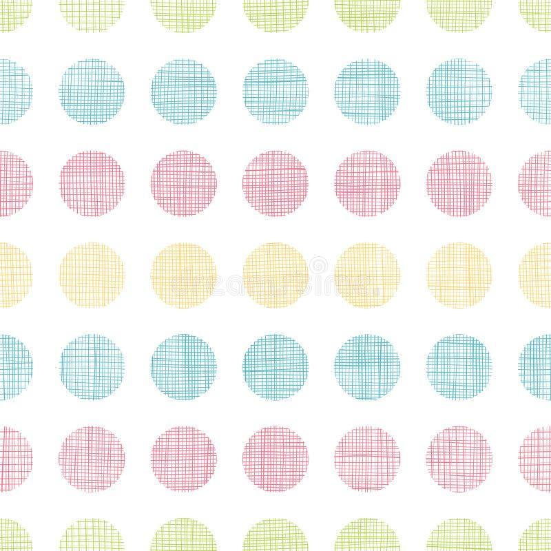 抽象纺织品圆点镶边无缝的样式背景 皇族释放例证