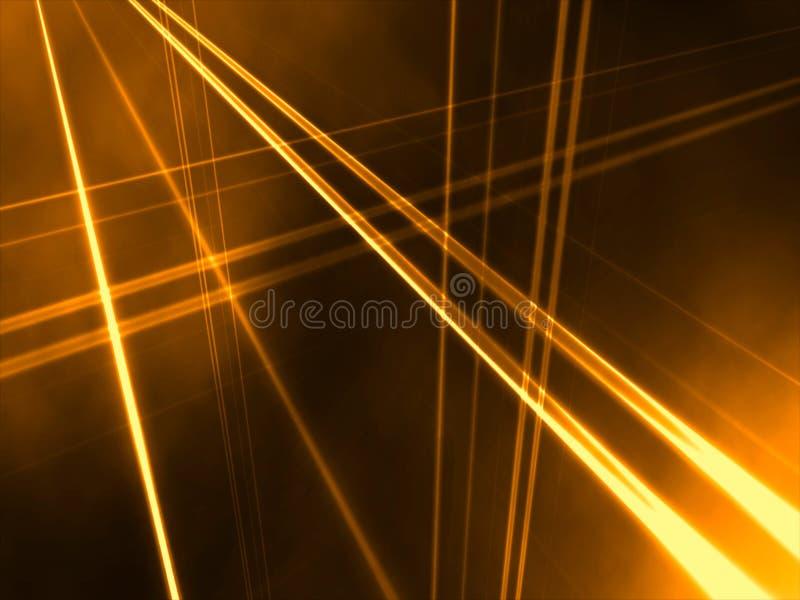 抽象线性橙色透视图 免版税库存照片