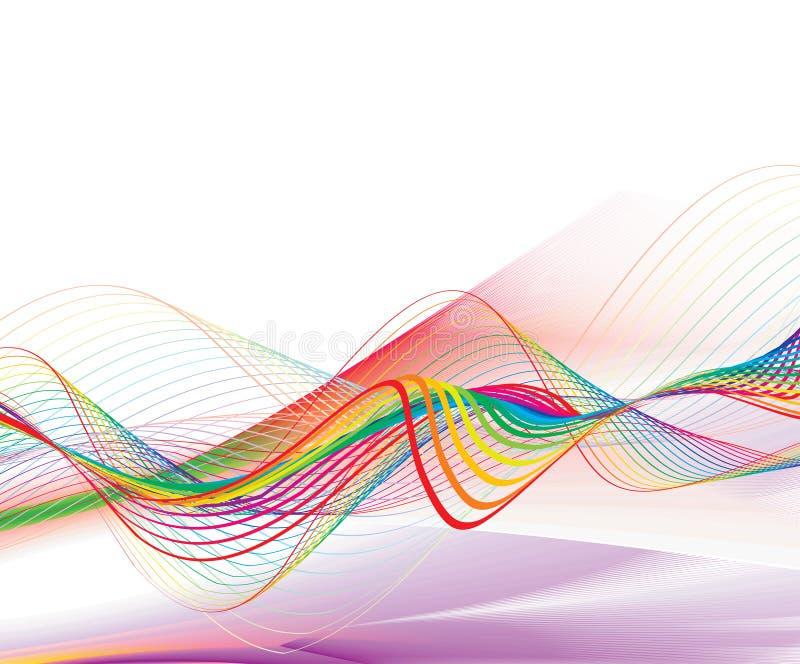 抽象线路彩虹通知 向量例证