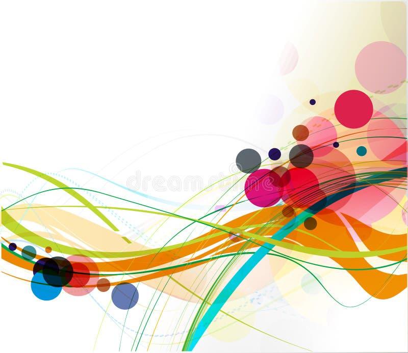 抽象线路通知 向量例证