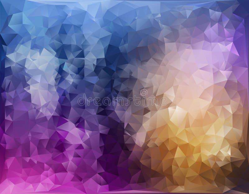 抽象织地不很细多角形背景 传染媒介三角背景设计 几何三角样式 库存例证