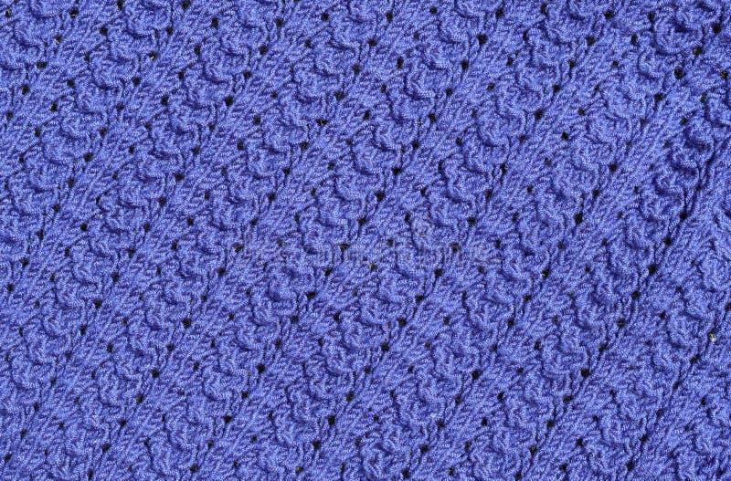 抽象织地不很细背景蓝色编织 库存图片