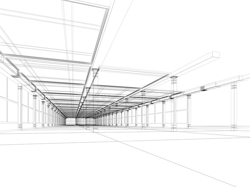 抽象结构上建筑 皇族释放例证