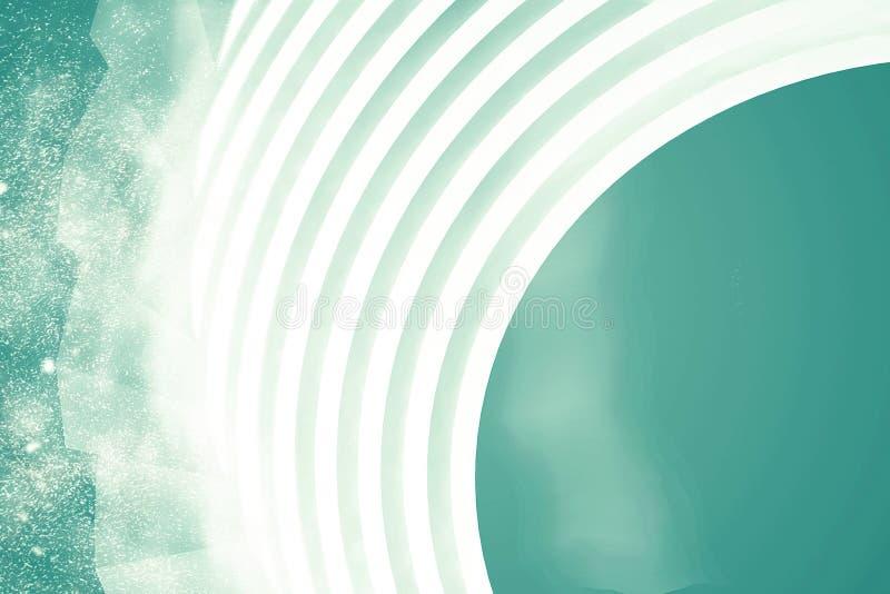 抽象结构背景 空的白色未来派室 3d例证回报 皇族释放例证