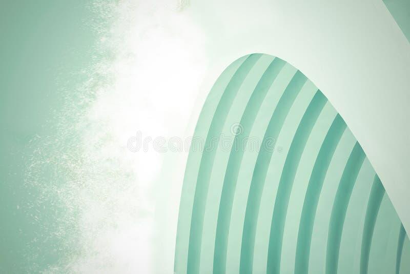 抽象结构背景 空的白色未来派室 3d例证回报 向量例证