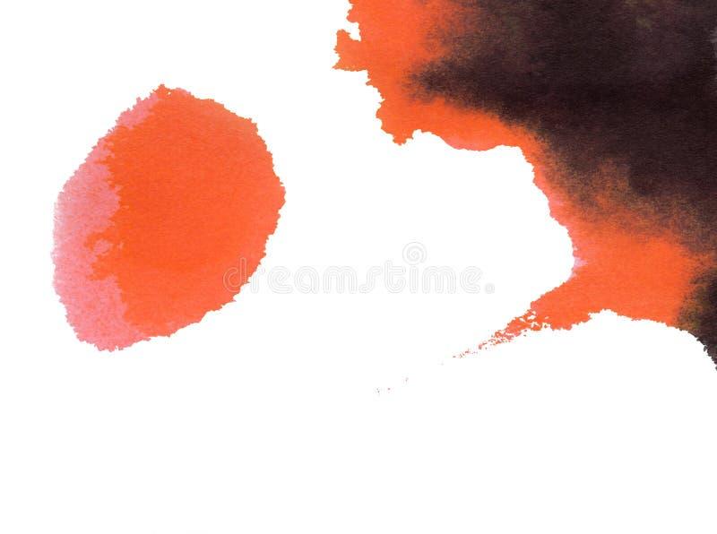 抽象绘画水彩 向量例证