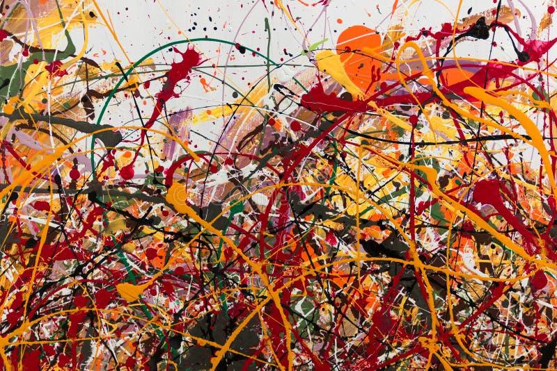 抽象绘画:用不同的颜色样式的冲程喜欢关于 免版税库存照片