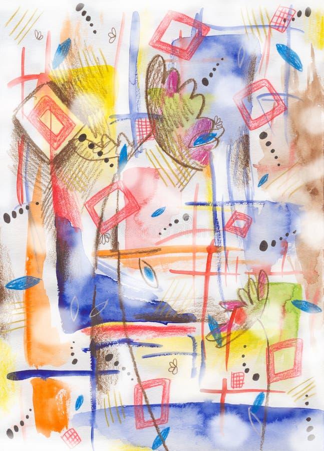 抽象绘画 库存例证
